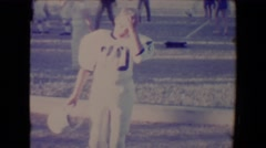 1967: Taking a break from playing football.TUCSON, ARIZONA Stock Footage