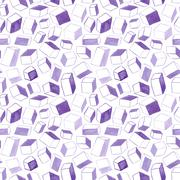 Original hand drawn cubes abstract background, seamless pattern Stock Illustration