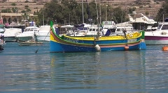 MALTA FISHING BOATS Stock Footage