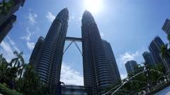 Twin tower in Kuala Lumpur Stock Footage