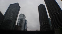 Leo Burnett 77 West Wacker Marina City Stock Footage