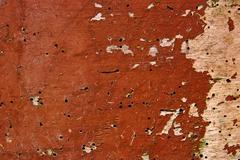 Old woodan wall, shabby paint as background Stock Photos