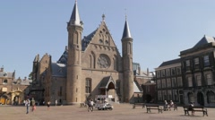 Binnenhof seat of goverment,The Hague,Netherlands Stock Footage