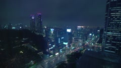 TIme lapse of downtown Gangnam in Seoul, Korea Stock Footage