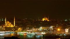 The Hagia Sophia at night Stock Footage
