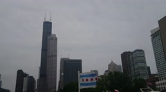 Willis Tower from Boat Stock Footage