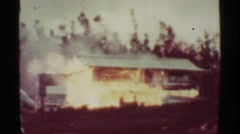 1971: Fire out of control.HAWAII Stock Footage