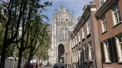 Gothic Saint Johns Cathedral,s-Hertogenbosch,Netherlands Stock Footage