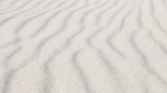 Sand grains rolling over sand waves in desert Stock Footage