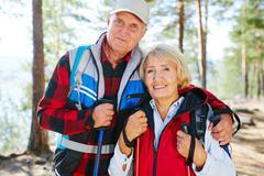 Trekking lovers Stock Photos