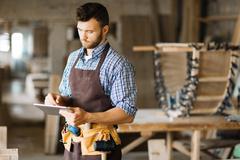 Handyman at work Stock Photos