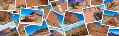 Australian Outback photo collage Stock Photos
