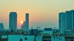Sunset in Bangkok Stock Footage