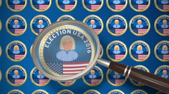 Presidential election 4K animation seamless loop. Stock Footage