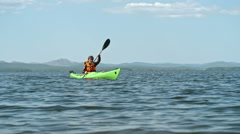 Joy of Traveling by Kayak Stock Footage