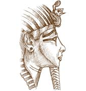 Gold tutankhamon mask Stock Illustration