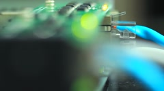 Network lights Stock Footage