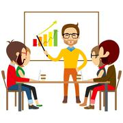Coworking People Collaboration Meeting Stock Illustration