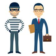 Thief And Lawyer Stock Illustration