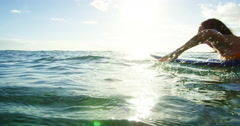 Surfer Girl Stock Footage
