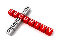 Access security blocks concept  3d illustration Stock Illustration