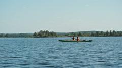 Romantic Kayaking Retreat Stock Footage