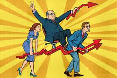 Business people are the boss, sales schedules Stock Illustration
