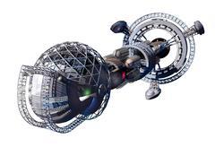 Alien mothership or spacelab Stock Illustration