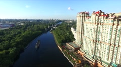Aerial view of Moscow Stock Footage