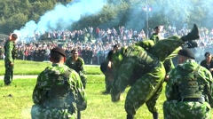 Severomorsk, RUSSIA . Day of the Navy. Marines, unarmed combat. Stock Footage