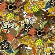 Seamless ethnic pattern vibrant colors with zentangle ornament Stock Illustration