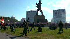 Day of the Navy. Demonstration performances of Marines. Stock Footage