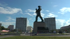 The monument to the heroes of nothern sea, time lapse. Stock Footage