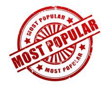 Most popular stamp concept  3d illustration Stock Illustration