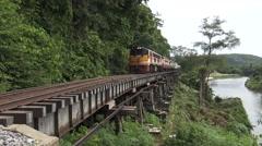 Train,transportation and train tours from bangkok to kanjanaburi. Stock Footage