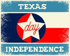 Texas Independence Day Stock Illustration