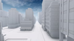 Abstract city downtown empty street 4K animation Stock Footage