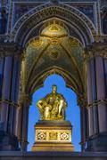 The Albert Memorial in Kensington Gardens at sundown, London, England, United Stock Photos
