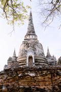 Stupa (Chedi) at Wat Mahathat, Ayutthaya, UNESCO World Heritage Site, Thailand, Stock Photos