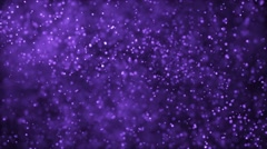 Purple stars motion background video loop Stock Footage