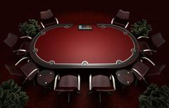Poker table concept  3d illustration Piirros