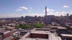 4K Aerial Video clip of St Pauls, rise shot, Birmingham UK Stock Footage