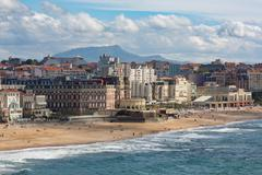 The beach and seafront in Biarritz, Pyrenees Atlantiques, Aquitaine, France, Stock Photos