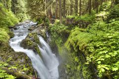 Sol Duc Falls, Olympic National Park, UNESCO World Heritage Site, Washington, Stock Photos