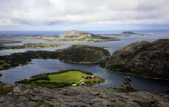 View across the islands of Flatanger, Nord-Trondelag, Norway, Scandinavia, Stock Photos
