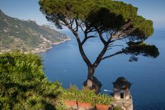 Villa Rufolo, Ravello, Costiera Amalfitana (Amalfi Coast), UNESCO World Heritage Stock Photos