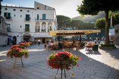 Piazza Centrale, Ravello, Campania, Italy, Europe Stock Photos