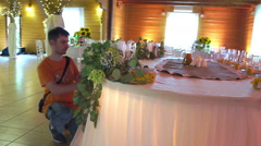 Wedding floristics in a rustic style Stock Footage
