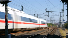 ICE highspeed train Stock Footage