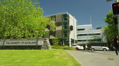 Exterior View of the University of Auckland. Stock Footage